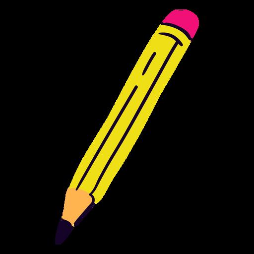 Lápiz escolar plano Transparent PNG