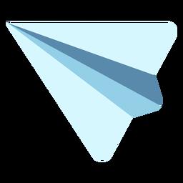 Avião de papel simples plana