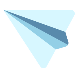 Simple paper airplane flat