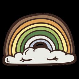 Ilustração do arco-íris a dormir