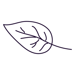 Doodle de folha pequena