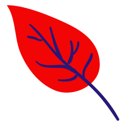 Small red leaf flat