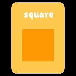 Square shape flashcard