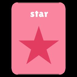 Flashcard con forma de estrella