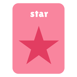 Star shape flashcard