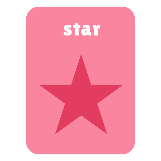 Star shape flashcard