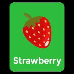 Tarjeta de vocabulario de fresa