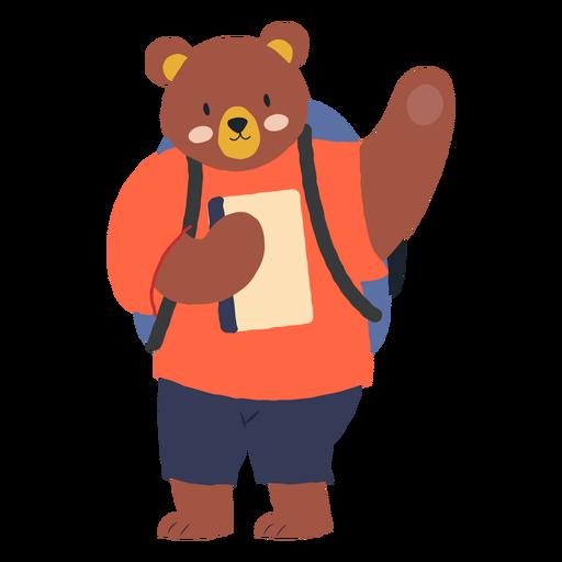Estudiar el personaje del oso Transparent PNG