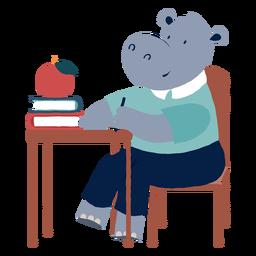 Studying hippopotamus character
