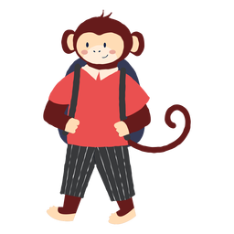 Studying monkey character