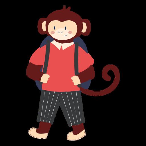 Estudando o personagem de macaco