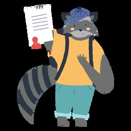 Estudiando el carácter del mapache.