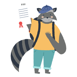 Studying raccoon character