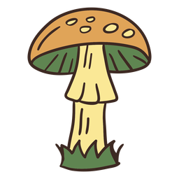 Tall mushroom illustration