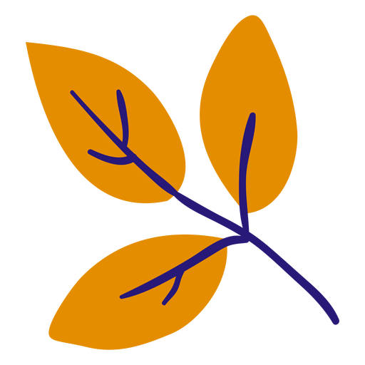 Three leaves flat Transparent PNG