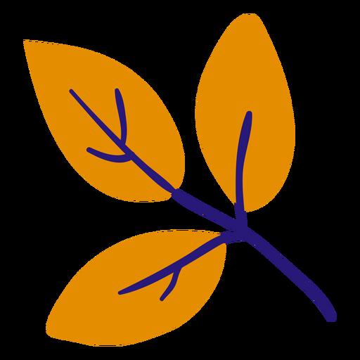 Three leaves flat