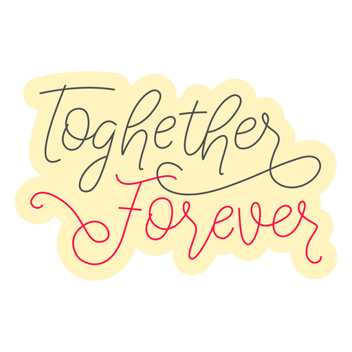 Emblema juntos para sempre