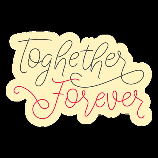 Together forever badge