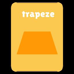 Flashcard con forma de trapecio