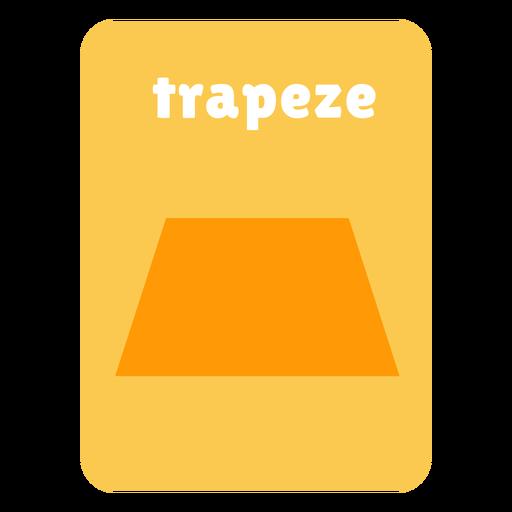 Trapeze shape flashcard