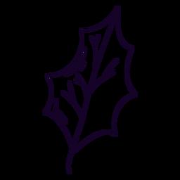 Tree leaf doodle
