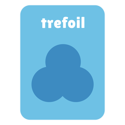 Trefoil shape flashcard