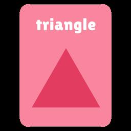 Flashcard con forma de triángulo