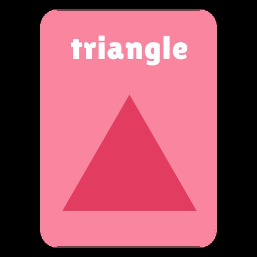 Triangle shape flashcard