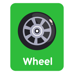 Flashcard de vocabulario de rueda