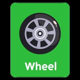 Tarjeta de vocabulario de ruedas
