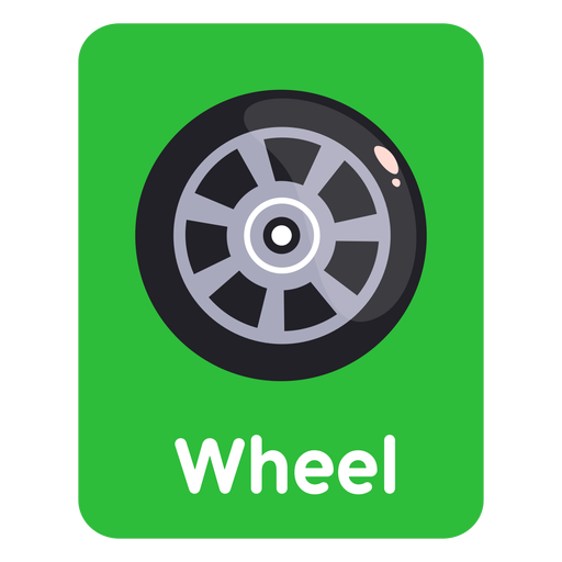 Wheel vocabulary flashcard