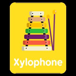 Tarjeta de vocabulario de xilófono