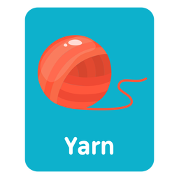 Yarn vocabulary flashcard