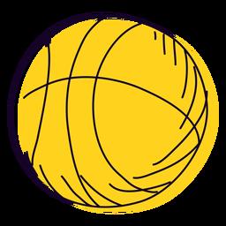 Balonmano amarillo dibujado a mano