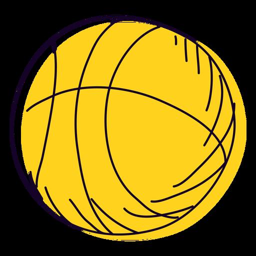 Dibujado a mano cesta amarilla
