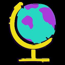 Yellow globe flat