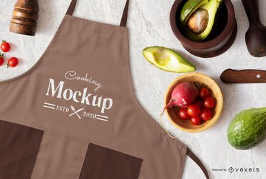 Cooking apron mockup