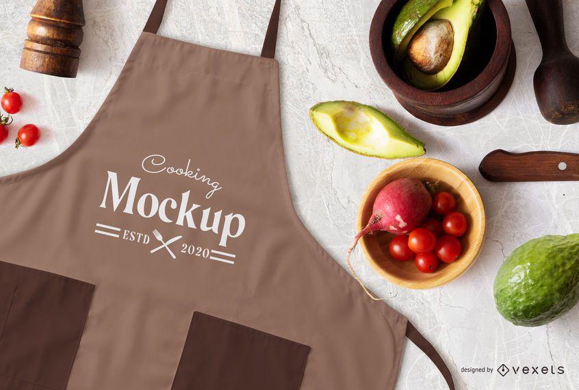 Cooking apron mockup