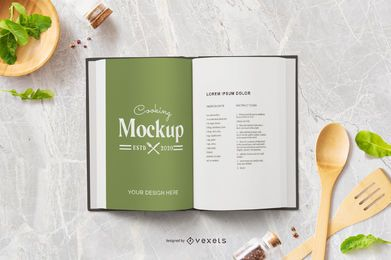 Cooking book mockup