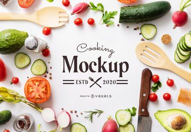 Cooking mockup composition