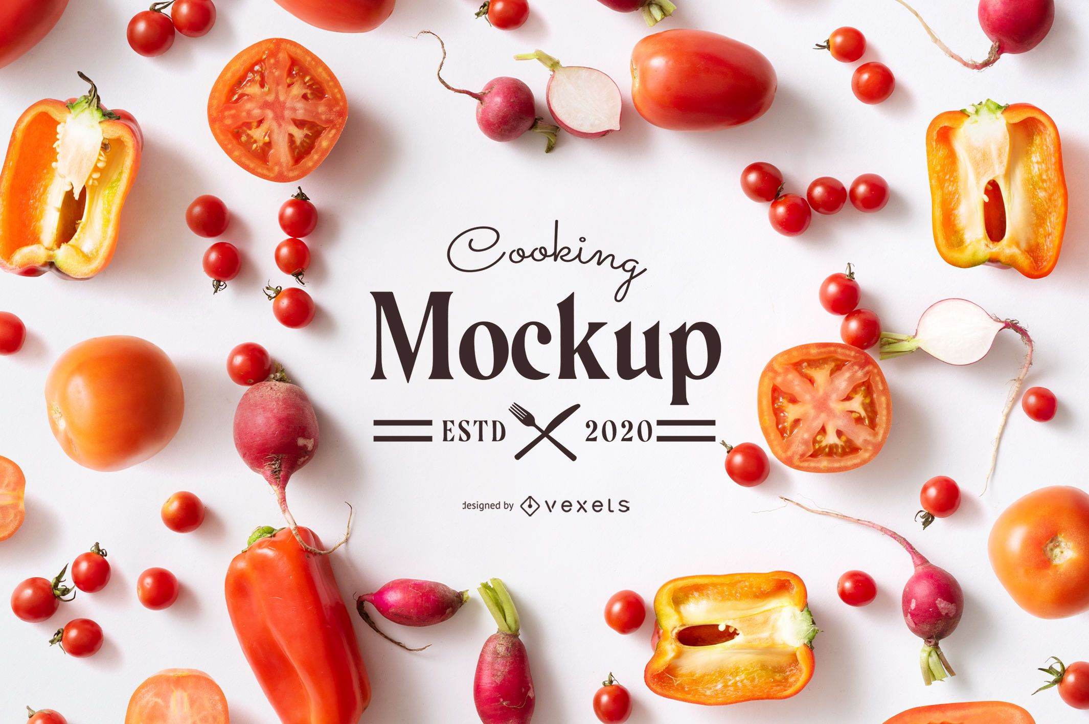 Cooking Food Elements Mockup