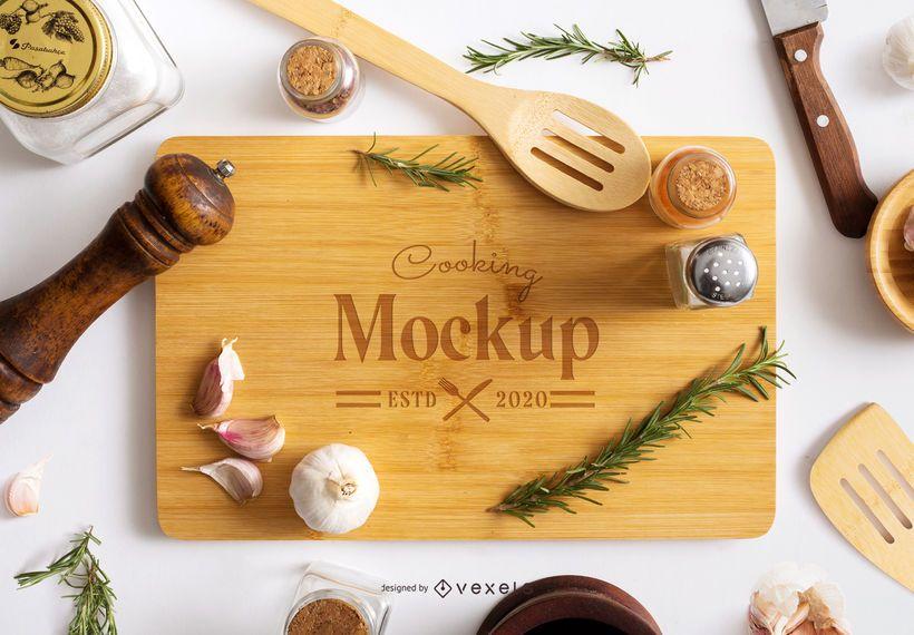 Cooking Scene Composition Mockup