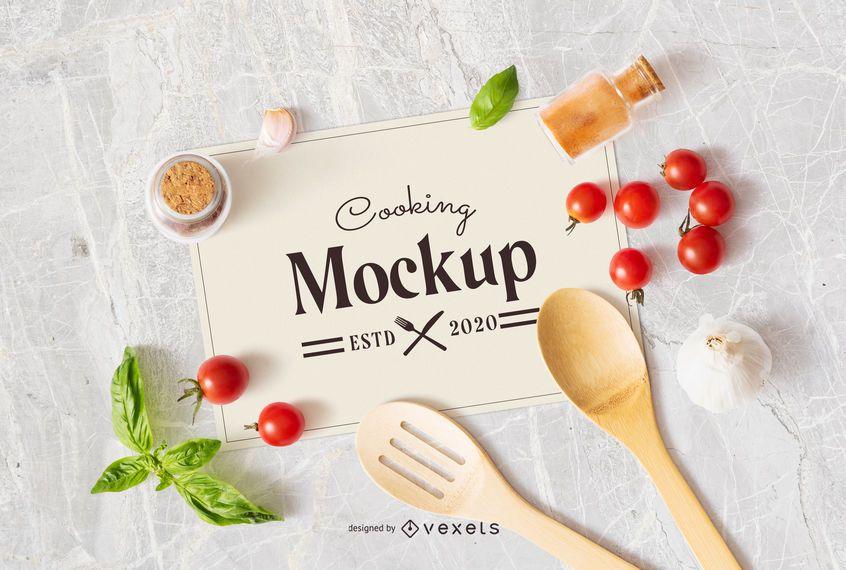 Cooking Paper Sheet Mockup