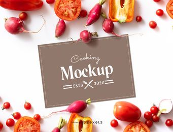 Cooking Paper Mockup Design
