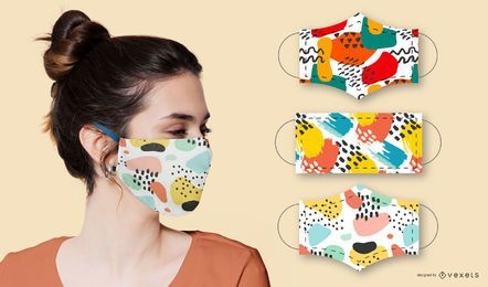 Abstract patterns for masks set