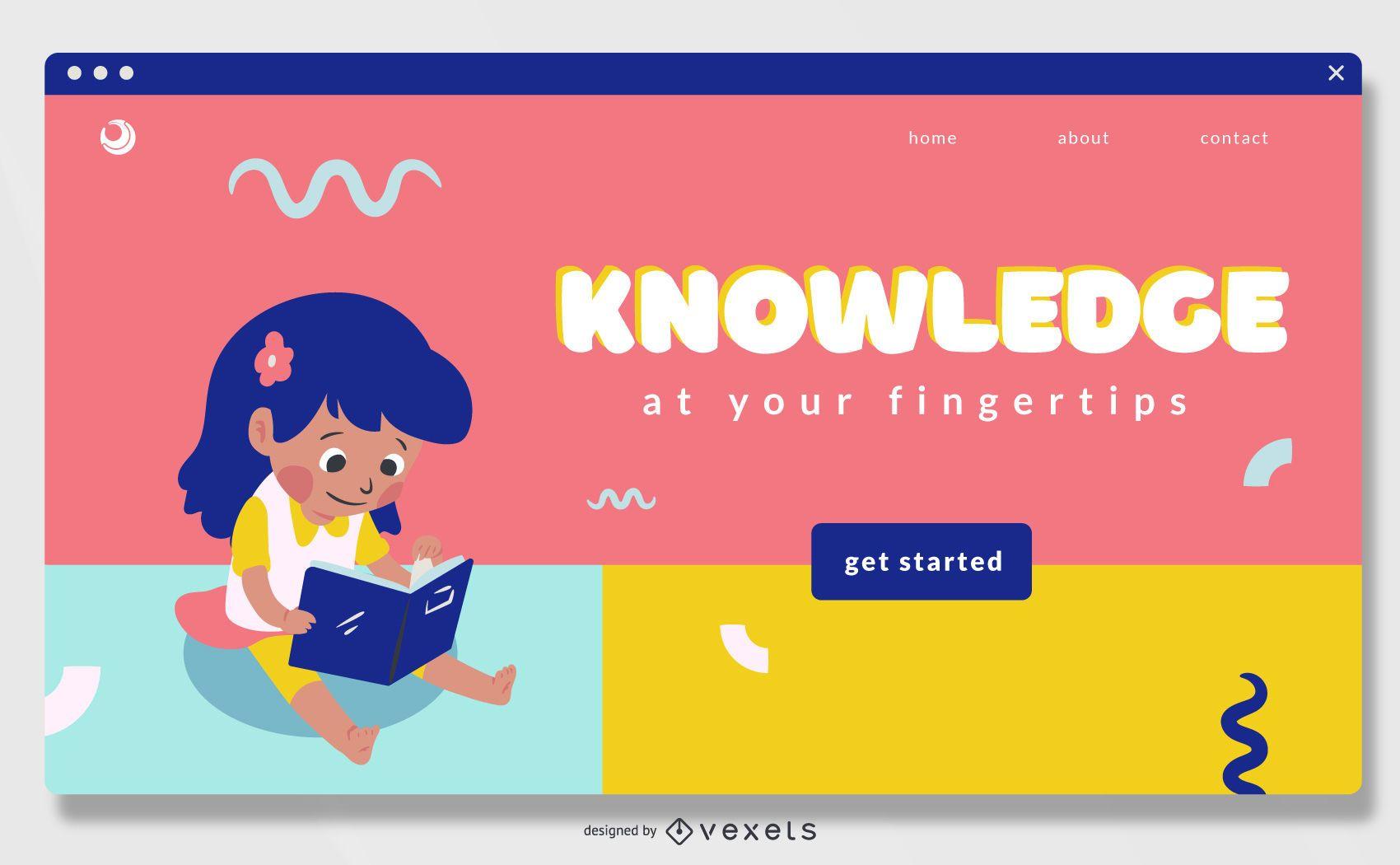 Dise?o deslizante de pantalla completa de educaci?n en l?nea para ni?os