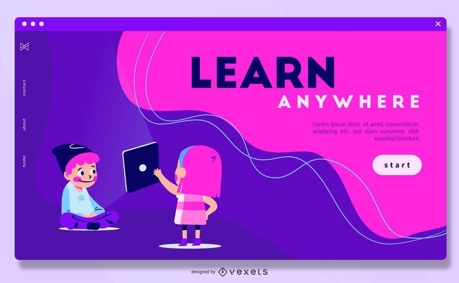 Learn Anywhere Fullscreen Slider Design