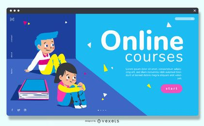 Cursos Online Education Slider Design