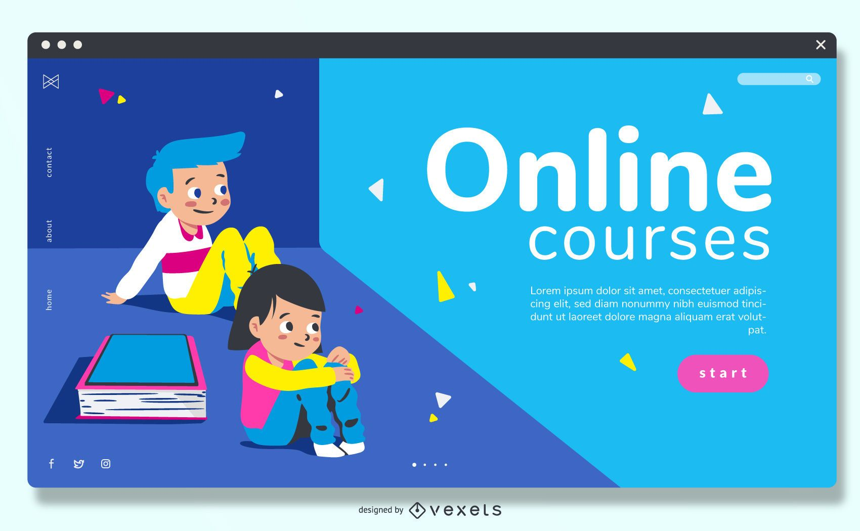 Cursos Online Education Slider Design