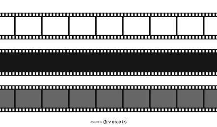 Conjunto de design negativo de filme